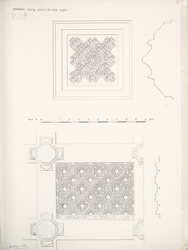 Broach: Ceiling panel in the Jama mosque f.16